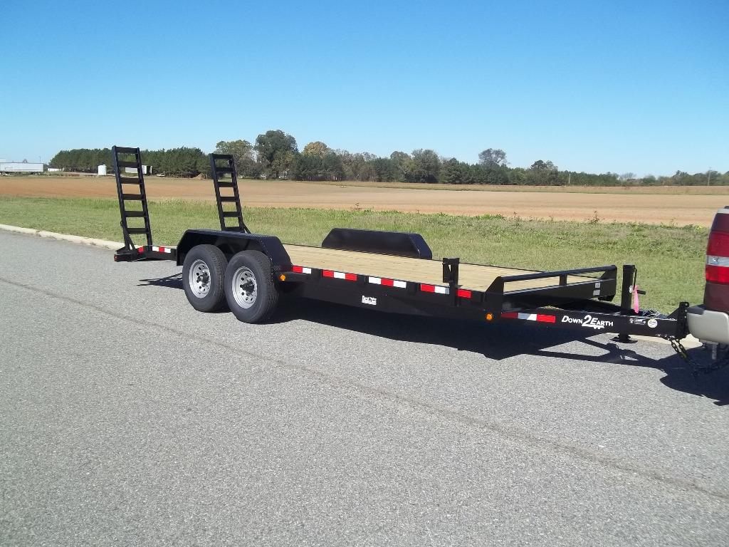 The 2021 down to earth 20 ft 14k equipment equipment trailer  photos