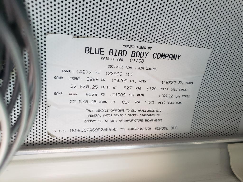 2009 Blue Bird ALL AMERICAN Bus photo
