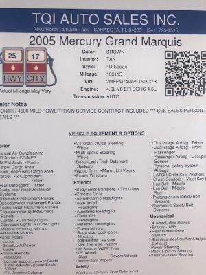 2005 Mercury Grand Marquis GS photo