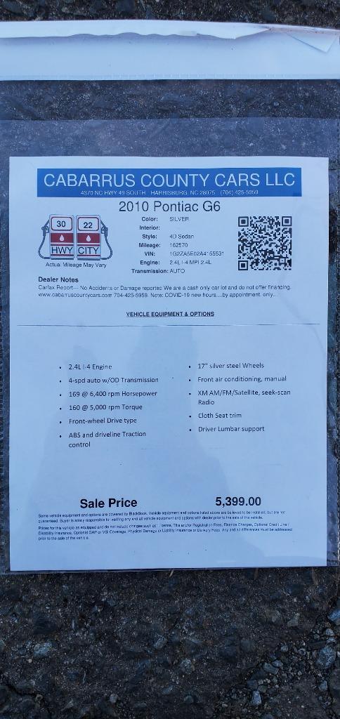 2010 Pontiac G6 photo